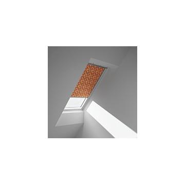 Rullgardiner - Orange med mønster - 4568 (10 cm x 10 cm)