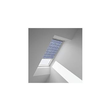 Rullgardiner - Blåt med vit mønster - 4160 (10 cm x 10 cm)