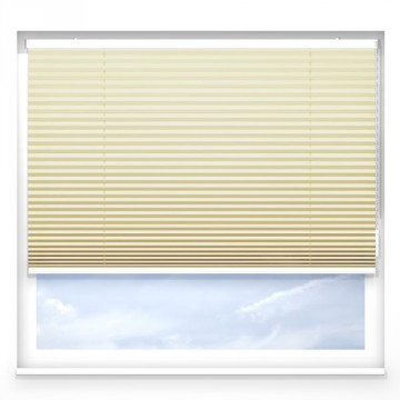 Plissegardiner - Alba optisk vit - 7193 (10 cm x 10 cm)
