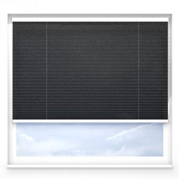 Plissegardiner - Alba pärlgrafit - 7331 (10 cm x 10 cm)