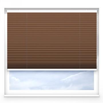 Plissegardiner - Alu ljus brun - 7230 (10 cm x 10 cm)