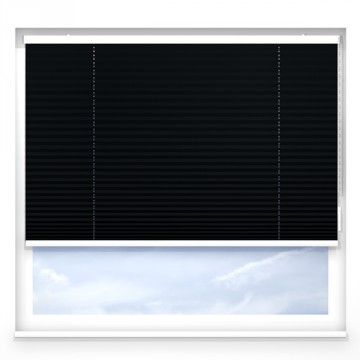 Plissegardiner - Alu svart - 7173 (10 cm x 10 cm)
