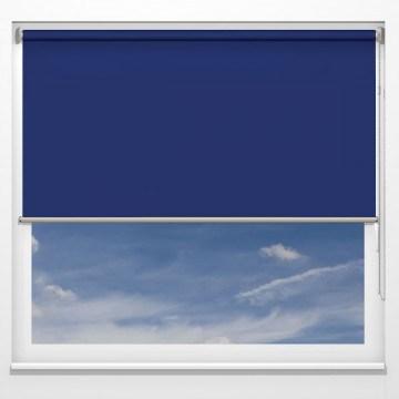 Rullgardiner - Gemini mörkläggning blå - 5647 (25 cm x 10 cm)