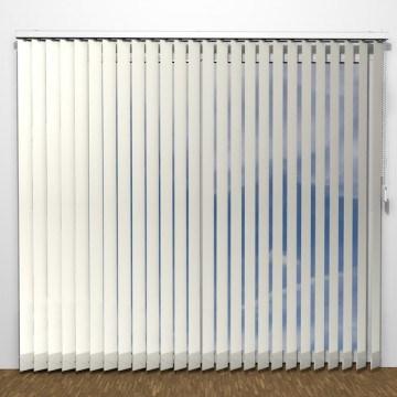 Lamellgardiner - Vit - U7020 (12 cm x 10 cm)