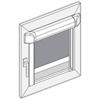 F - Kassette til glasliste med kædetræk
