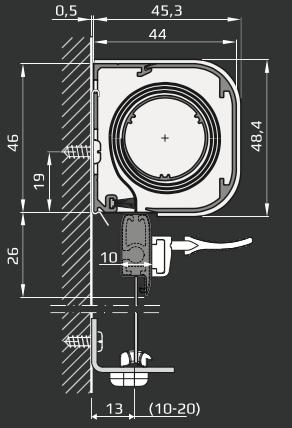 I - Minikassette udspændt