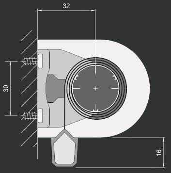 RC - Veggmontering