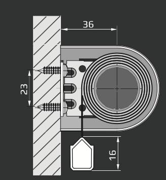 RM - Veggmontering