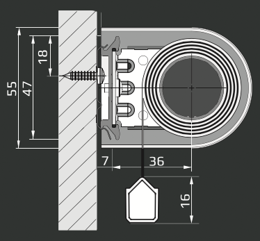 RM - Vægmontering
